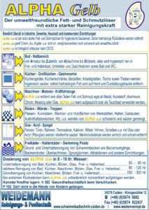ALPHA Gelb, Fett- und Schmutzlöser