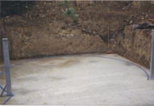 Bodenplatte mit Stahlstützträgern