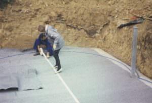 Achtform Bodenvlies mit Bodenschiene