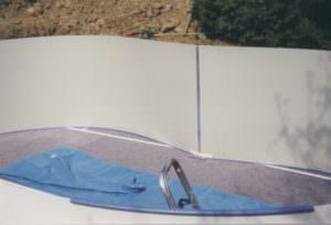 Achtform Stahlwand vor Folieneinbau