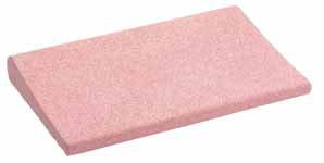 Beckenrandstein korallrot mit Schwallkante aus Beton