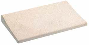 Beckenrandstein sand mit Schwallkante aus Beton