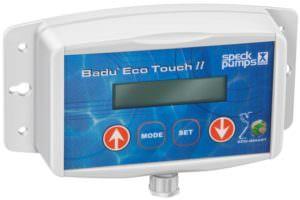 Mit diesem externen Bedienfeld kann die BADU Eco Touch Pro eingestellt werden. Dieses kann ca. 100 m entfernt von der Filterpumpe montiert werden.