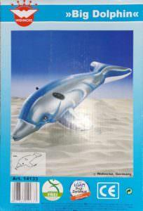 Big Delphin aufblasbar zum Draufsitzen, ca 90 x 190 cm auch als Hai und Seehund