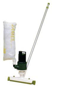 Bodensauger James. Mit Stange und eigener Pumpe mit Filtersack, Reinigung per Hand