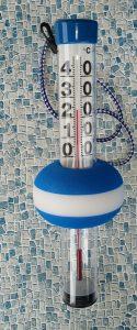 Thermometer Schwimmboje Neptun, blau-weiss mit großen Zahlen