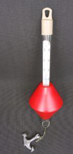 Bojenthermometer Klassik, rot mit Anker