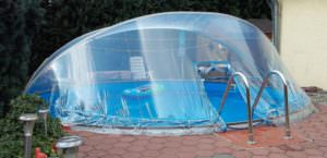 Cabrio Dome Ø 5,00 m mir Folie Adriablau
