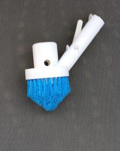 Eckreinigungsbürste mit Absaugstutzen passend für Ø 38 mm Schwimmbadschlauch