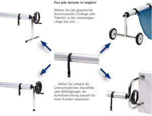 Edelstahl Aufrollvorrichtung Varianten