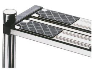 Edelstahl Leiterstufen dopplet Deluxe, austausch mit jeder Tiefbeckenleiter