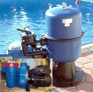 zweiteiliger Filterkessel aus Polypropylen Ø 400 mm, Pumpe i-Plus 90