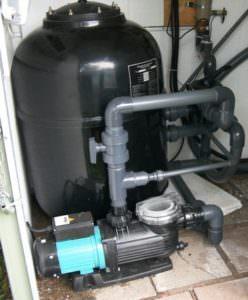 Filteranlage, GFK Filterkessel StaRite Ø 610 mm, mit seitlichem 6Wege Ventil und Onga Filterpumpe