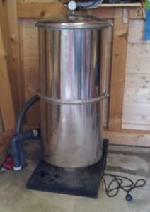 Mehrschicht Edelstahlkessel Astral Ø 500 und 600 mm, Höhe 1450 mm abnehmarer Deckel