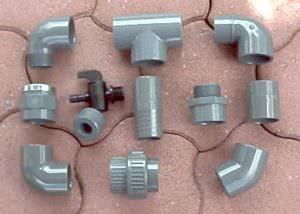 PVC Fittinge d 50 mm/ d 63 mm oder größer
