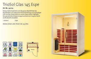 Infrarotkabine TrioSol Glas 145 Espe Bild