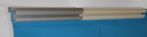 Kombi Aluminiumhandlauf und Kunststoffhandlauf Farbe Sand