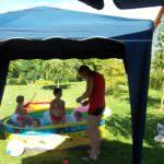 Kinderplanschbecken ca. 50 cm hoch, Ø 250 cm.