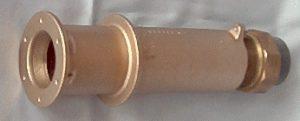 Rotguss Mauerdurchführung für Betonbecken beidseitig 1½ IG mit mit RG 1½ auf d50 PVC