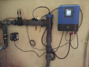 Salzelektrolysesteuerung mit pH u. Redox. Messung u. Regelung