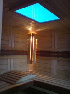 Sauna Farbleuchte blau
