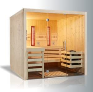 Sauna Infrarot Kombination Complete