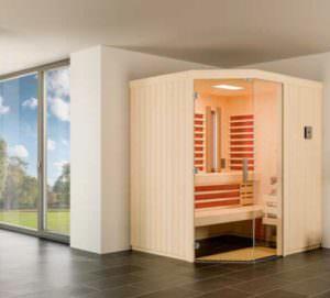 Sauna Infrarot Kombination Optima im Zimmer