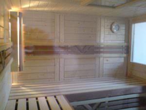 Saunasitzbank aus Abachi