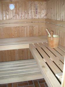 Sauna Sitzbank aus Abachi