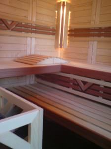 Sauna Komfort Innenausstattung