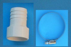 Schlauchtülle d38 auf d50mm mit Schlauchschelle