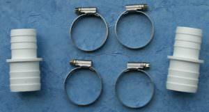 Schlauchverbinderset 32-38mm mit Schlauchschellen