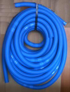 Schwimmbadschlauch mit angeschweisten Muffen, d 38mm, alle 150 cm teilbar
