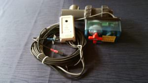 Solarsteuerung ohne Zeitschaltuhr für Solarabsorber mit 2 Wegekugelhahn und Temperaturfühler. Einstellbare Temperaturdifferenz.