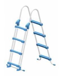 Stahlrohr Hochbecken Sicherheitsleiter mit abnehmbaren vorderen Einstiegsstufen. Belastbar bis 100 kg.