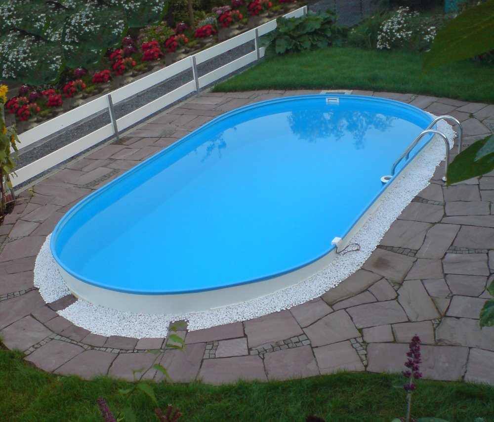 Pool stahlwand with pool stahlwand finest with pool for Stahl pool oval