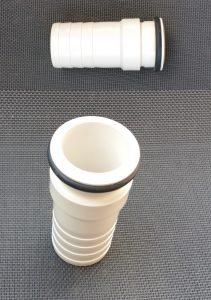 Stecktülle mit O-Ring für Ø 38 mm Schwimmbadschlauch