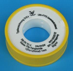 Teflonband gelb 0,1mm