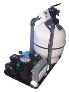 Whirlpool Filteranlage mit einem Gebläse Zeitsteuerung, Pneumatikschalter