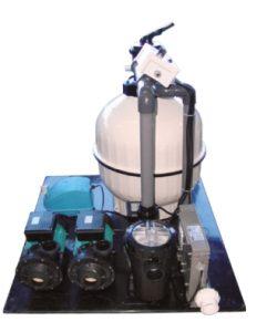 Whirlpool Filteranlage mit 2 Gebläsen Zeitsteuerung, Pneumatikschalter