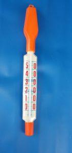 großes Stabthermometer, orange mit extra großen Zahlen ca 28 cm lang