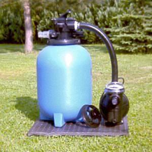 Kunststoffkessel HP 240 Ø 300 mm, 4 Wege Top Ventil mit Pumpe ca. 4 m³