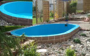 Ovales Becken aus Beton