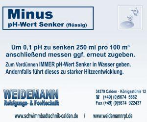 pH Minus Granulat, zum Senken vom pH Wert. Kann über den Beckenrand oder mit einer Dosieranlage zugeben werden.